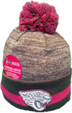 Jacksonville Jaguars Breast Cancer Awareness Sideline Fleece Pom Toque