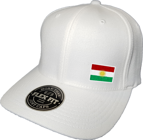 Kurdistan Cap Flex Fit FLS White