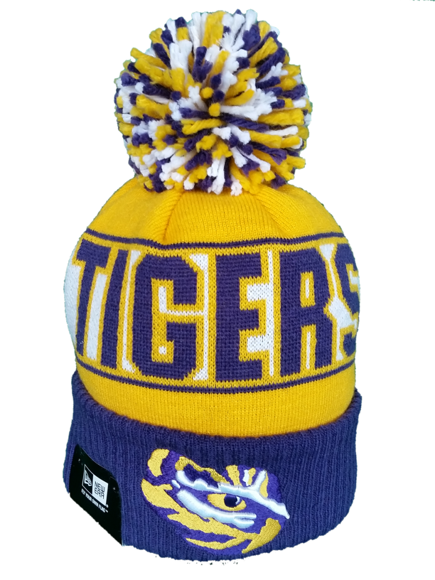 NCAA New Era Pom Toque LSU Tigers