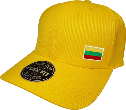 Lithuania Cap Flex Fit FLS Gold