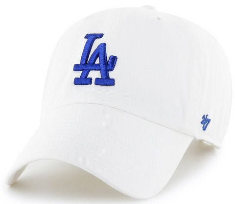 Los Angeles Dodgers Clean Up Cap White