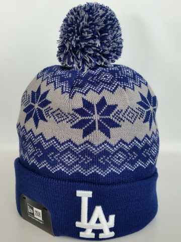 Los Angeles Dodgers Snowflake Pom Toque