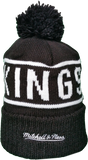 Los Angeles Kings Mitchell & Ness Black and White Reflective Logo NHL Toque