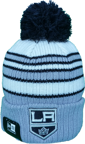 Los Angeles Kings Traditional Stripe Pom Toque