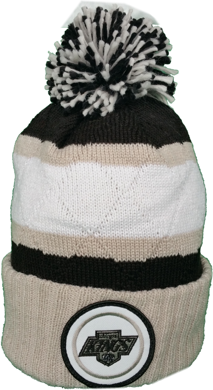 Los Angeles Kings Vintage Mitchell & Ness High Five NHL Pom Toque