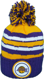 Los Angeles Lakers Mitchell & Ness High Five NBA Pom Toque