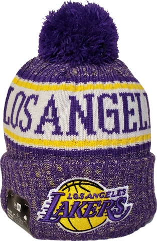 L.A. Lakers Fleece Lined Pom Toque