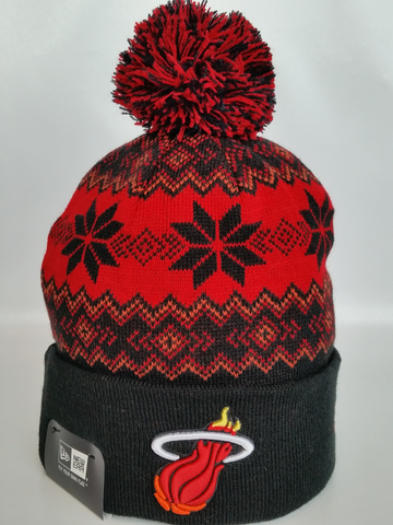 Miami Heat Snowflake Pom Toque