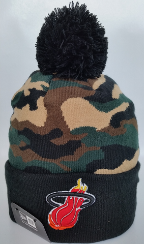 Miami Heat Woodland Camo Pom Toque