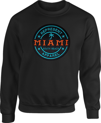 Miami South Beach Sweatshirt Black