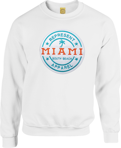 Miami South Beach Sweatshirt White