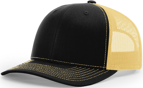 Richardson Mid Crown Trucker Cap Black Vegas Gold