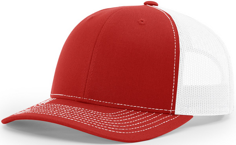 Richardson Mid Crown Trucker Cap Red White