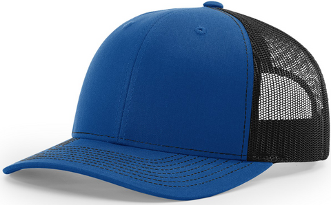 Richardson Mid Crown Trucker Cap Royal Black