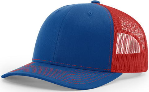 Richardson Mid Crown Trucker Cap Royal Red