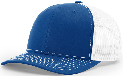 Richardson Mid Crown Trucker Cap Royal White