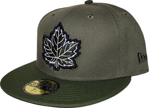Canada Fitted Hat Mighty Maple 2 Tone Army Green