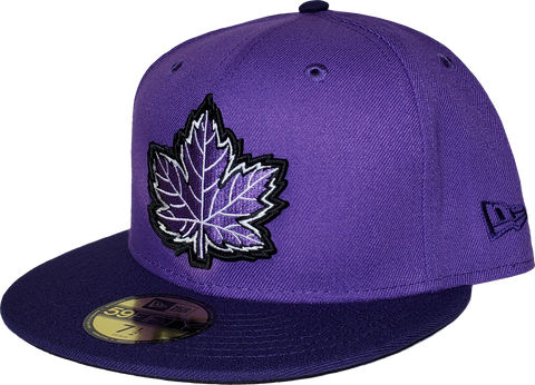 Canada Fitted Hat Mighty Maple 2 Tone Purple