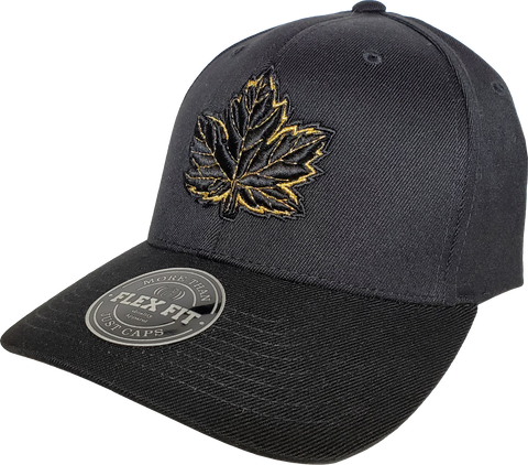 Canada Mighty Maple Flex Fit Cap Black