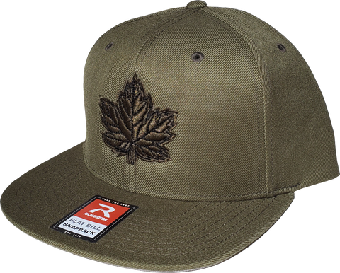 Canada Mighty Maple Snapback Army Green Black