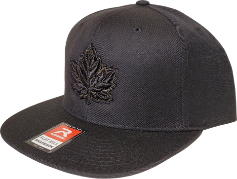 Canada Mighty Maple Snapback Black Army Green