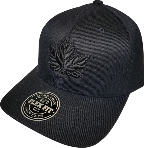 Canada Mighty Maple Flex Fit Cap Blackout