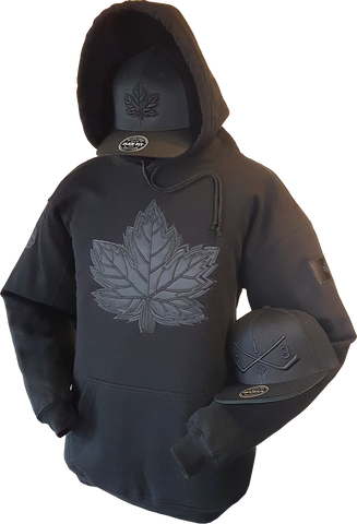 1 of 20 Limited Edition Tonal Canada Hoodie Mighty Maple Blackout