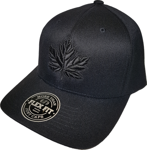 Canada Cap Mighty Maple Flex Fit Blackout