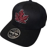 Canada Mighty Maple Flex Fit Black and Maroon
