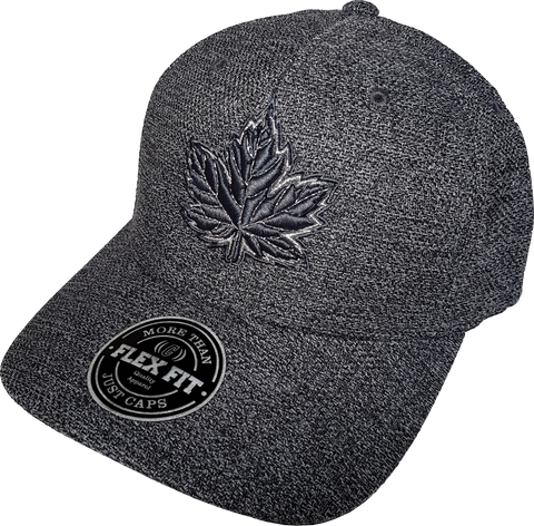 Canada Mighty Maple Flex Fit Cap Dk Heather Melange