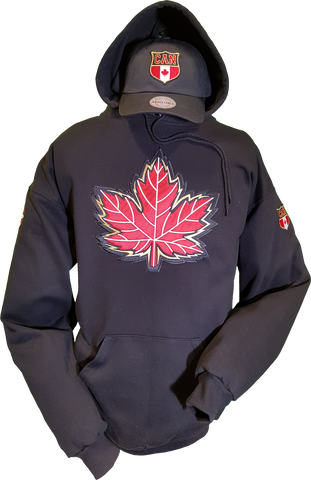 Canada Hoodie Mighty Maple Black