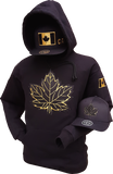 Canada Hoodie Mighty Maple Black Metallic Gold