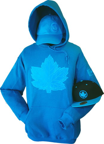 1 of 20 Limited Edition Tonal Canada Hoodie Mighty Maple Bright Blue