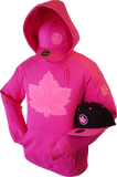 1 of 20 Limited Edition Tonal Canada Hoodie Mighty Maple Hot Pink
