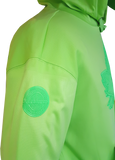 1 of 20 Limited Edition Tonal Canada Hoodie Mighty Maple Neon Green