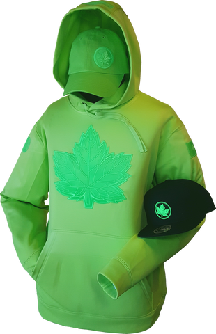 Tonal Canada Hoodie Mighty Maple Neon Green