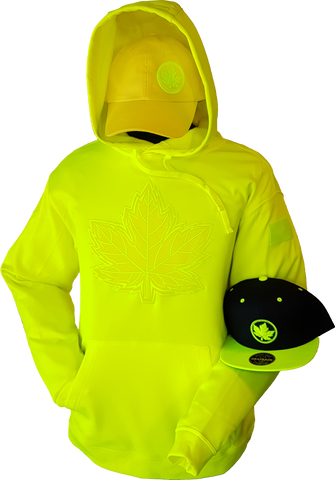 1 of 20 Limited Edition Tonal Canada Hoodie Mighty Maple Yellow Shock