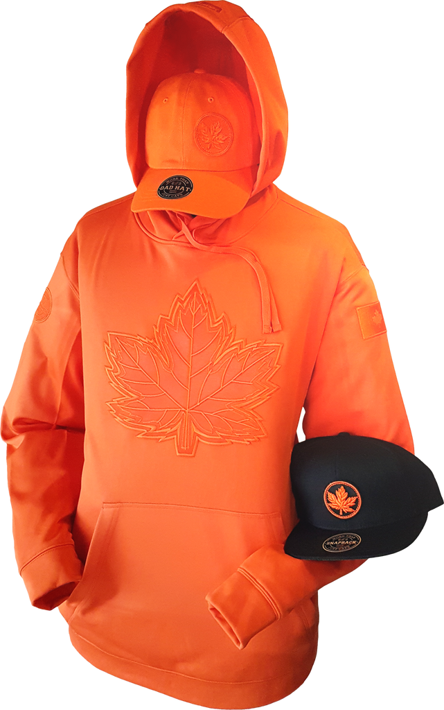 1 of 20 Limited Edition Tonal Canada Hoodie Mighty Maple Orange
