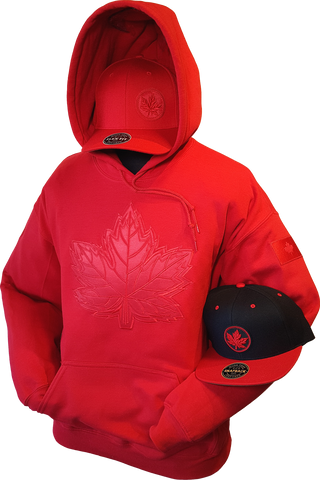 1 of 20 Limited Edition Tonal Canada Hoodie Mighty Maple Red