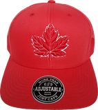 Mighty Maple Canada Trucker Cap  Red and White