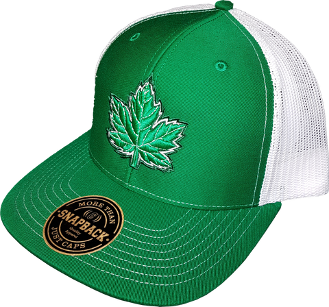 Canada Mighty Maple Trucker Green White