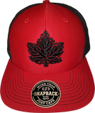 Canada Mighty Maple Red Black Trucker