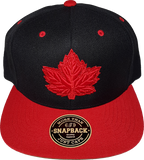 Canada Mighty Maple Black Red Tonal Snapback