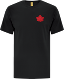Canada Mighty Maple T-Shirt Black Red Tonal