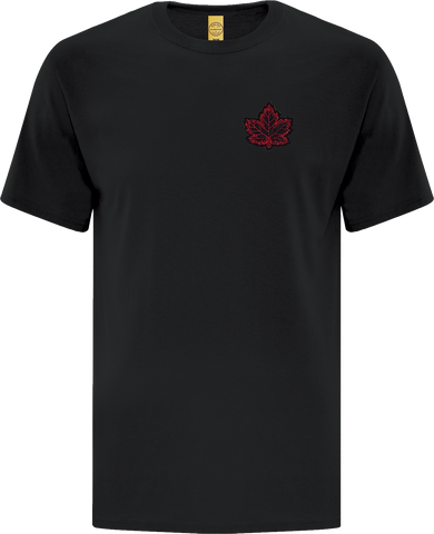 Canada Mighty Maple T-Shirt Black Red
