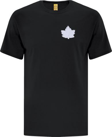 Canada Mighty Maple T-Shirt Black White Tonal