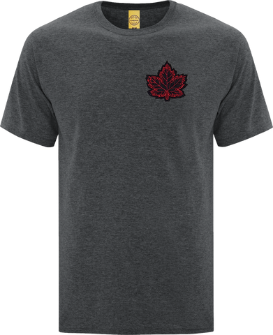 Canada Mighty Maple T-Shirt Dark Heather Black Red