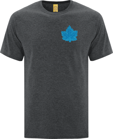 Canada Mighty Maple T-Shirt Dark Heather Blue Tonal