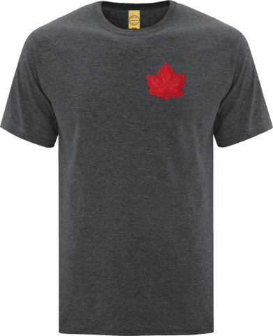 Canada Mighty Maple T-Shirt Dark Heather Red Tonal