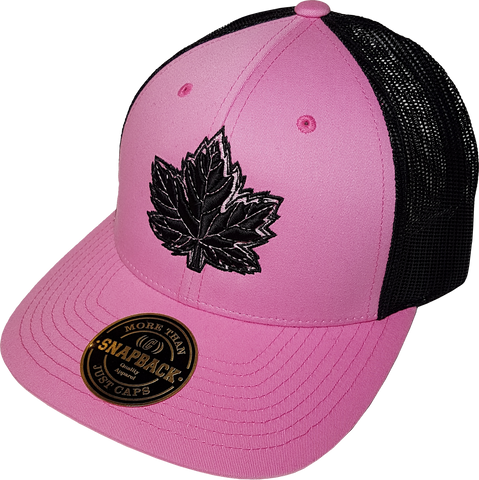 Canada Mighty Maple Pink Black Trucker